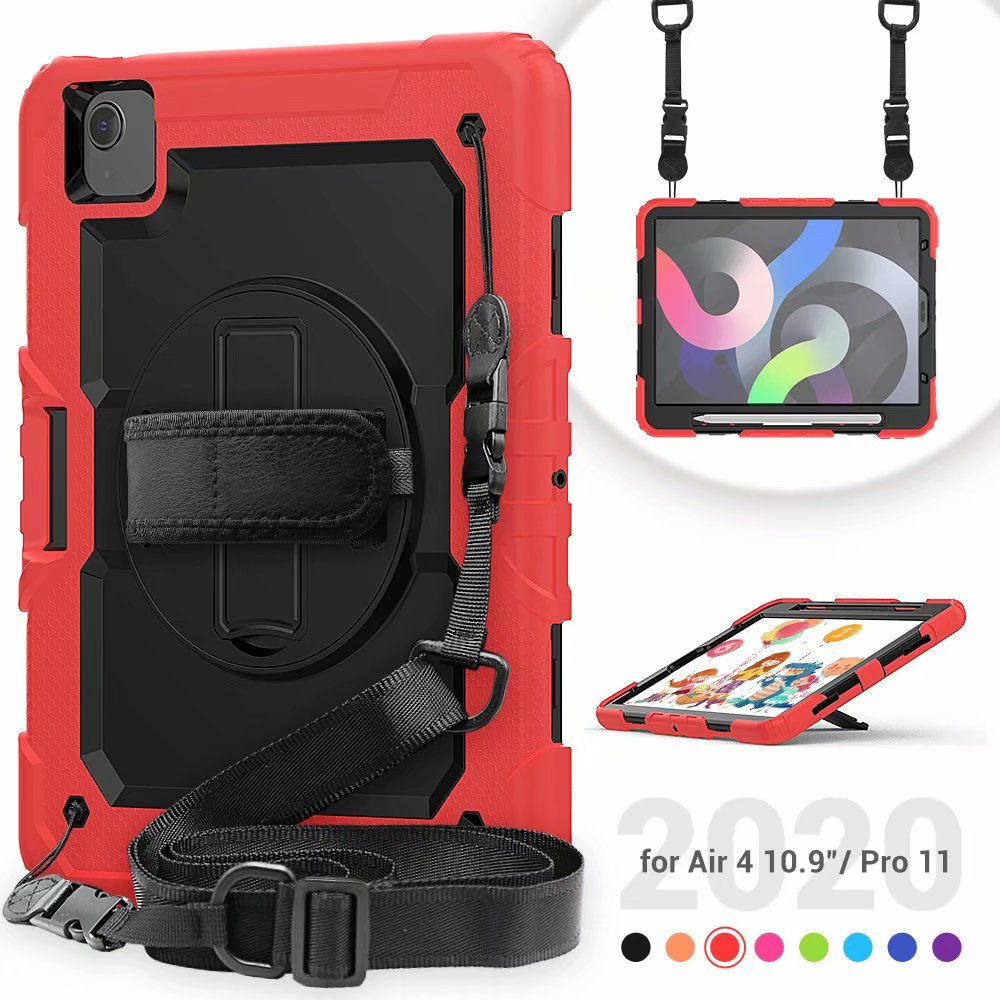 Generation Duty Air Protective Heavy For Case iPad Film 4th Silicone Screen Kickstand with