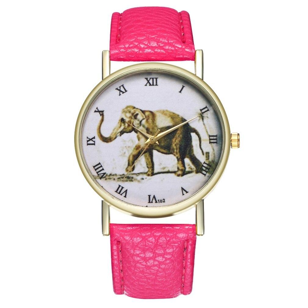 High-quality Women Watch Quartz Wristwatch Elephant Leather Strap Quartz Fashion Watch For Friends Elephant Shape Dial 2018 New