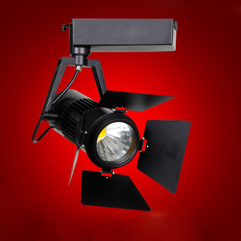 10pcs/lot COB 15W 20W Track Light Loft Industrial Spotlight Rail Light Black Track Lamp Clothes Store Lighting Fixtures|Track Lighting| |  - title=