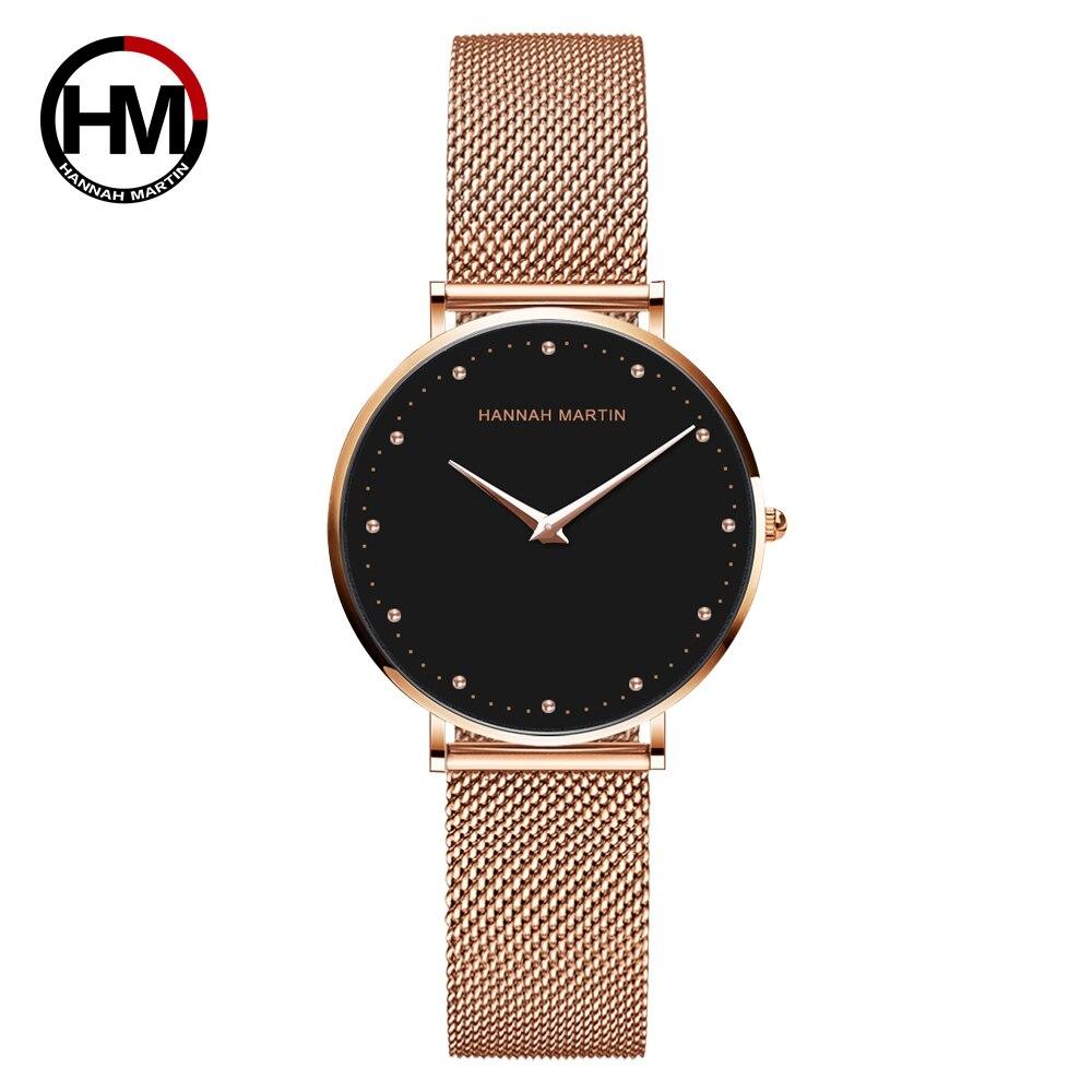 2020 новый стиль, оригинальные Кварцевые водонепроницаемые женские часы, модные креативные часы из нержавеющей стали с сетчатым ремешком, же