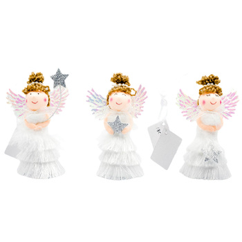 Christmas Angel Doll Toy Snowman/Santa Claus Christmas Tree Decorations for Home Kids New Year Gift Table Decoration image