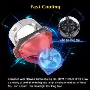 Image 3 - SANVI 2PC 3 Cal samochód Bi obiektyw LED projektora reflektor 55w 5500K Auto Ice lampa akcesoria do świateł samochodowych reflektor motocyklowy