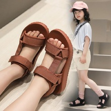 Kids Sandals 2020 New Fashion Korean Summer Wide Girls Comfortable Mesh Rubber Beach Sandals