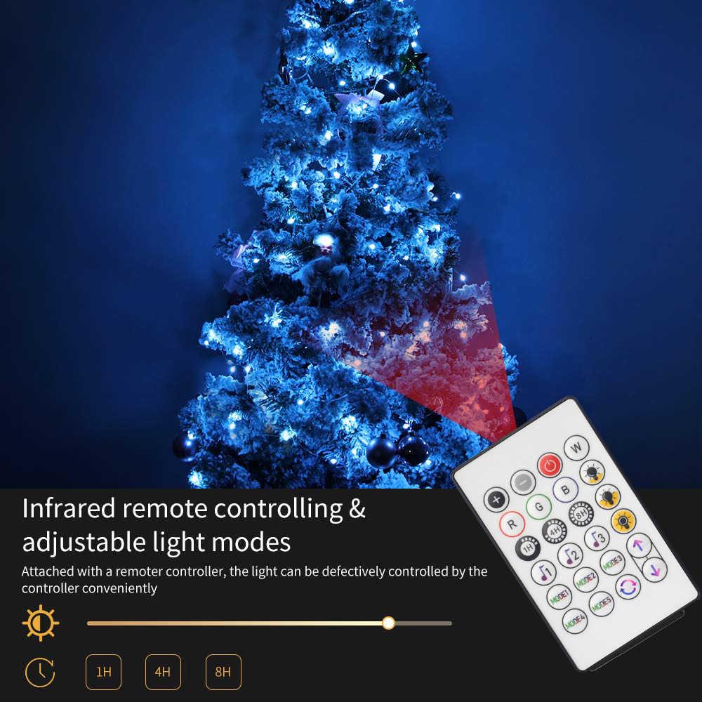 Christmas Tree RGB Copper LED Light Alexa Google Fairy String Bluetooth Control