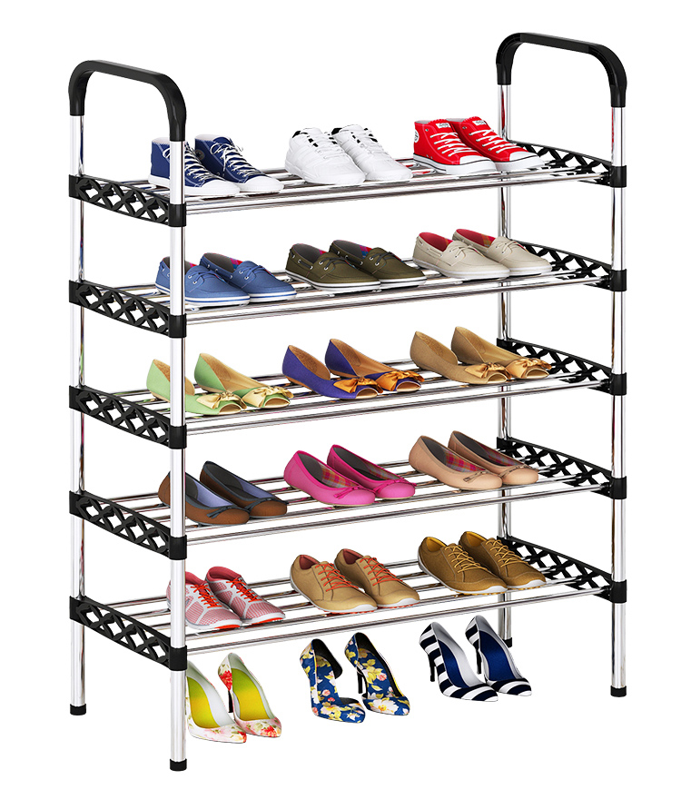 Simple Shoe Rack Multi-layer Entryway Multifunctional Home Stand Holder Student Dorm Shoe Storage Space-saving Shoes Shelf