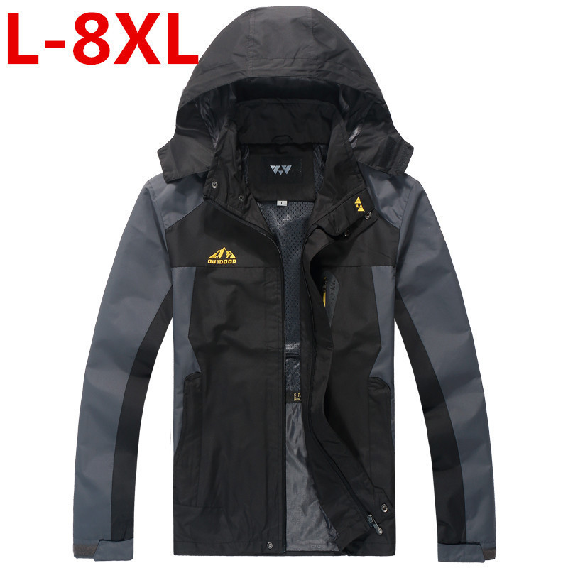 New Plus Size 8XL 7XL 6XL 5XL 4XL Men High Quality Waterproof Windproof Clothing Soft Shell Tactical Jacket Trench Coat