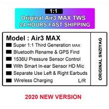 Оригинальные air3 max tws беспроводные bluetooth наушники вкладыши