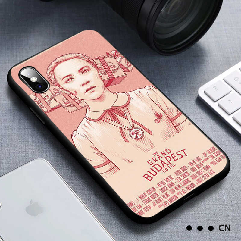 Untuk iPhone 11 Pro Max XR X Max X Wes Grand Budapest Hotel untuk Apple 8 7 6 5 S S PLUS Silikon Shockproof Cover Capa