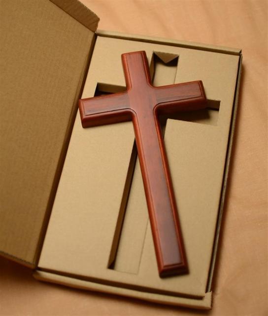 Brass Crucifix Hanging Wall Cross Corpus Christi Jesus Christ Religious Ornament 32 cm