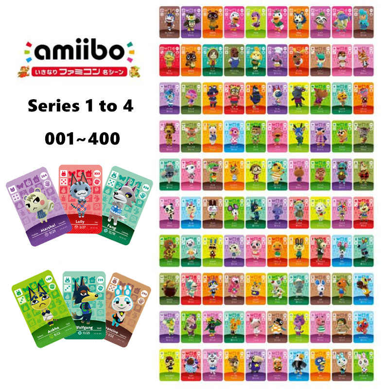 Animal Crossing Amiibo Card NS 게임을위한 새로운 지평선 Amibo Switch/Lite Amiibo 카드 NFC Welcome Cards Series 1 To 4