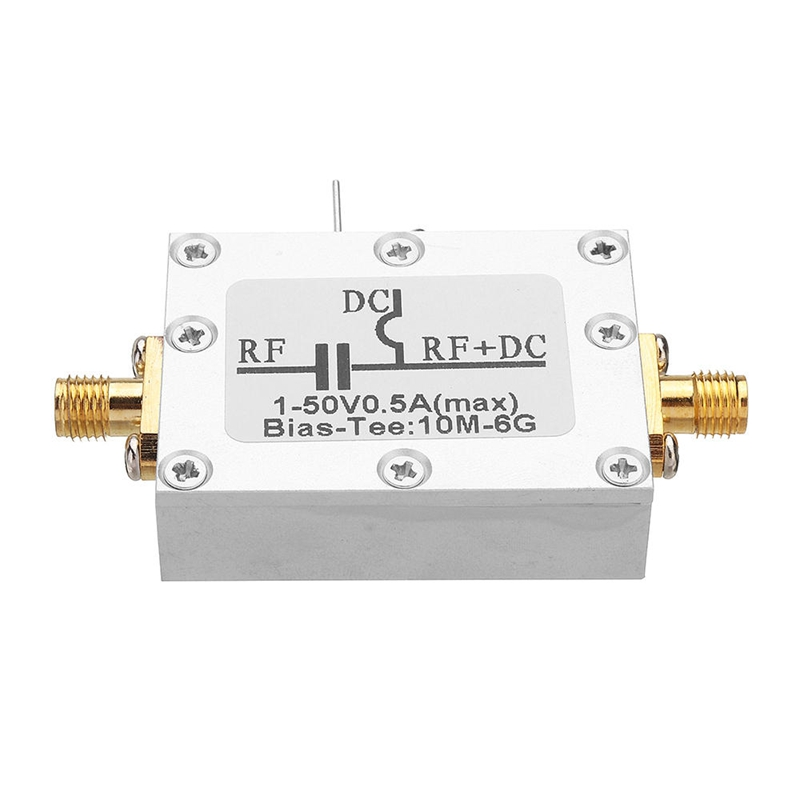 RF Biaser Bias Tee 10MHz-6GHz DC Blocker Coaxial Feed for HAM Radio RTL SDR LNA Low Noise Amplifier Bias Tee Drive image