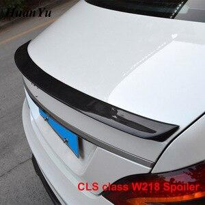 Image 4 - Задний спойлер для багажника из углеродного волокна для Mercedes benz W218 2011 2016 CLS 280 CLS300 CLS350 CLS500, сапоги, крылья для губ, Стайлинг автомобиля
