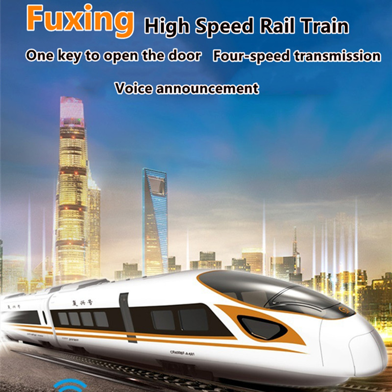 2.4G Remote Control Train Toy One Key Open Closed Robot Train With Simulation Sound Voice Large Size Speed Switch Train Kid Gift