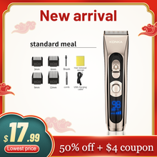 KONKA Multifunctional Hair Clipper Professional Hair Trimmer Electric Hair Cutting Machine 3 Gear adjustable IPX7 Water Proof