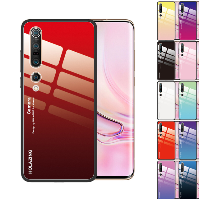 Crystal Tempered Glass Case for Xiaomi Mi 10 Pro 5G 9T CC9 CC9E Pro SE 8 Lite Mi Mix 3 A3 Lite A2 A1 6X POCO X2 F1 Cover