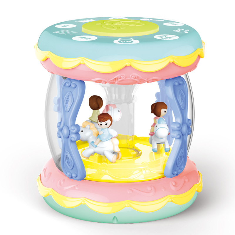 Children Baby Drum Toy Baby Rotating Beat The Drum Pat 0-1-Year-Old Music Children Hand Unisex 6-12 Month Can Have 3