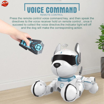 Intelligent Smart Electronic RC Dog 12 Animal Sounds Dancing Singing Pet Voice Control RC Toy Robot Dog Model With Light Sound