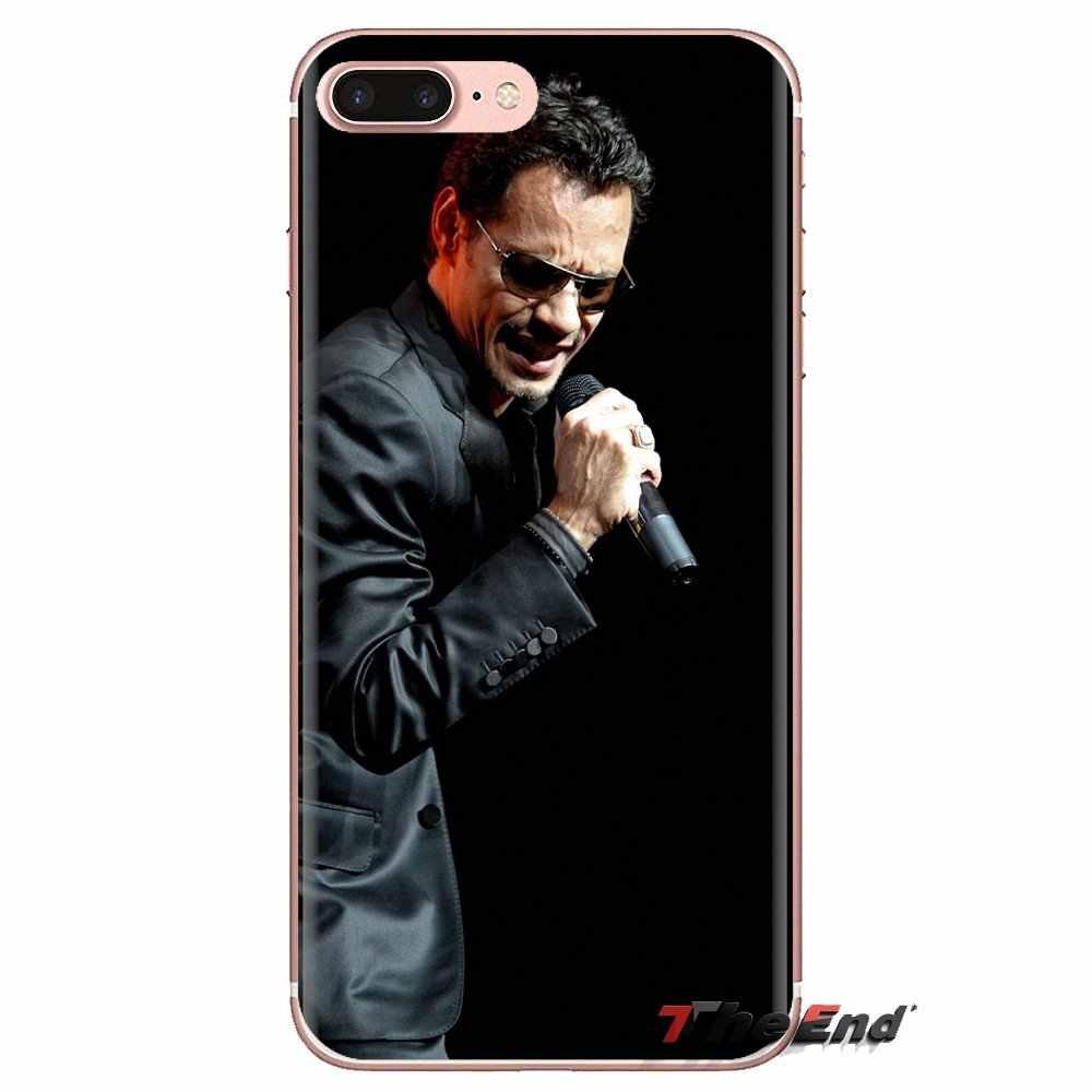 Sony Xperia Z için Z1 Z2 Z3 Z5 kompakt M2 M4 M5 E3 T3 XA Aqua LG G4 G5 G3 g2 Mini Marc Anthony şarkıcı yağmur me Silikon telefon kılıfı
