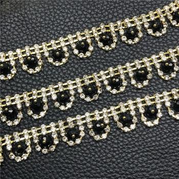 10Yards Rhinestone Chain Crystal Decoration Bridal Glass Rhinestones Trim Trimming for Fashion Jewelry Accessories