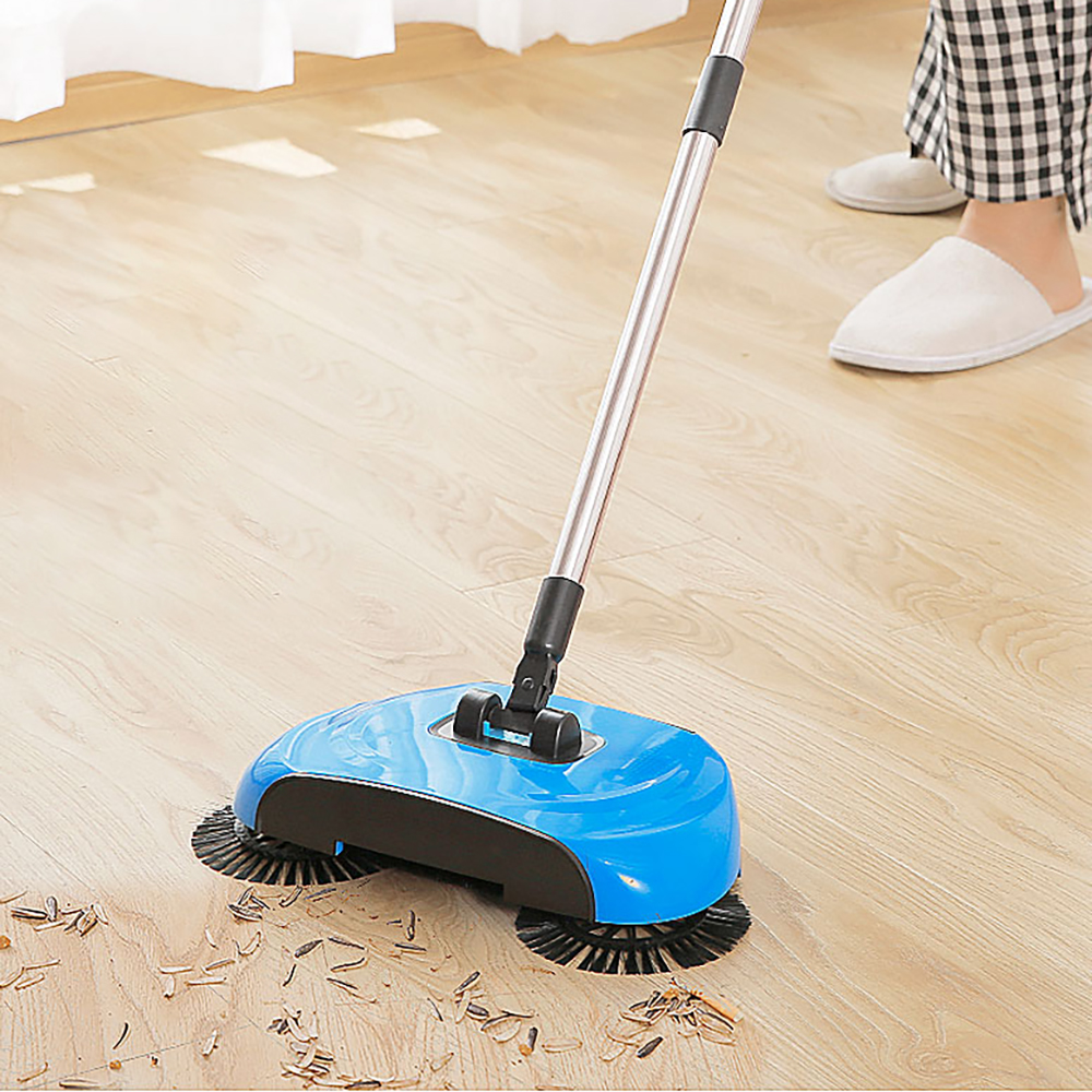 3 in 1 hand push Sweeper Broom Including Broom Dustpan Mop Household Tool Hand Push Automatic Cleaning room Package magic title=