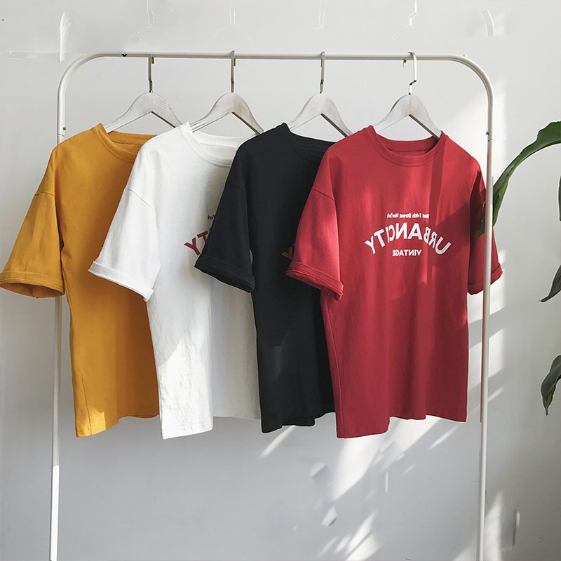 Harajuku-Women-T-shirts-New-2019-Summer-Funny-Letter-Print-Hip-Hop-Loose-T-shirt-Girls (2)