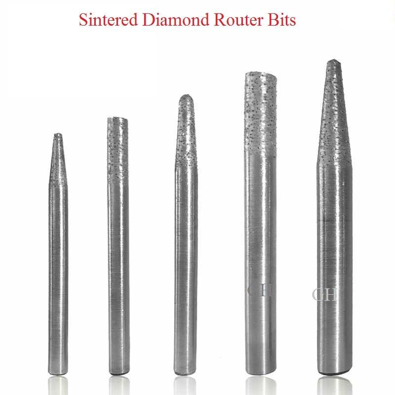 5pcs 6MM Ball Nose Endmill Sintered Diamond Engraving Stone//Granite//Marble