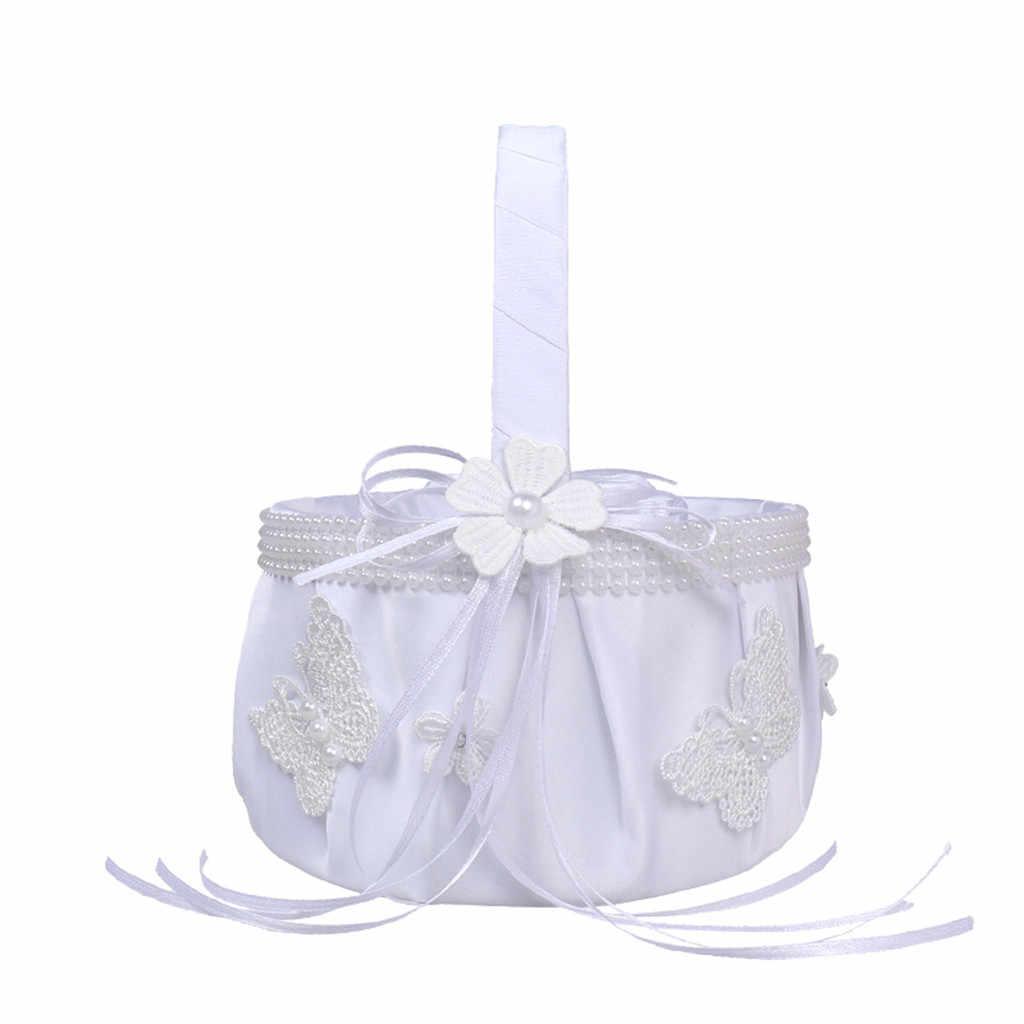 Nieuwe Hoge Kwaliteit Kunstmatige Bloem Bridal Bruiloft Bloem Meisje Mand Ringkussen Huis & Tuin Groothandel & Drop Verzending