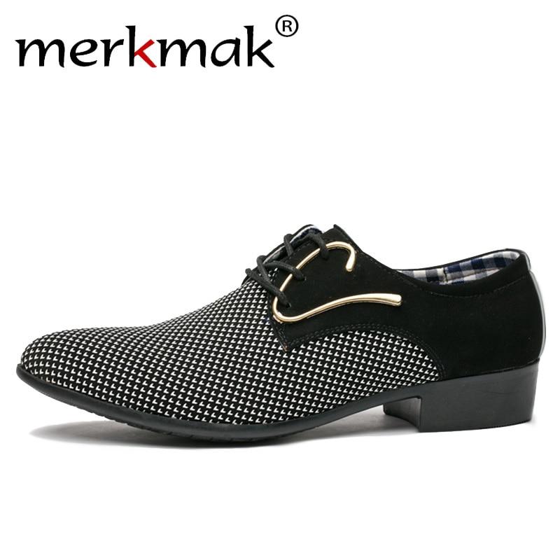 DiscountèMerkmak Shoes Dress Italian-Style Business Wedding Pointed-Toe Office Men Men's