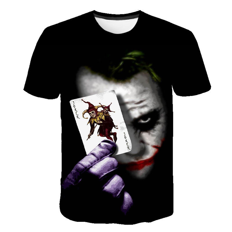 2020 New Men Women T Shirt The Clown 3D Printed T-shirt Joker Casual Tshirt Short Sleeved Joke Boy Girl Children Tops Cool Tees