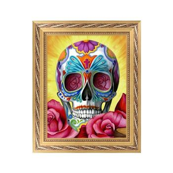 New DIY 5D Diamond Painting Skull Cross Stitch Craft Home Wall Decor