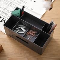 Deli Multi function Desktop Storage Box with Drawer Combination Pencil Holder Pen Stand Organizador Escritorio Organizer 8914