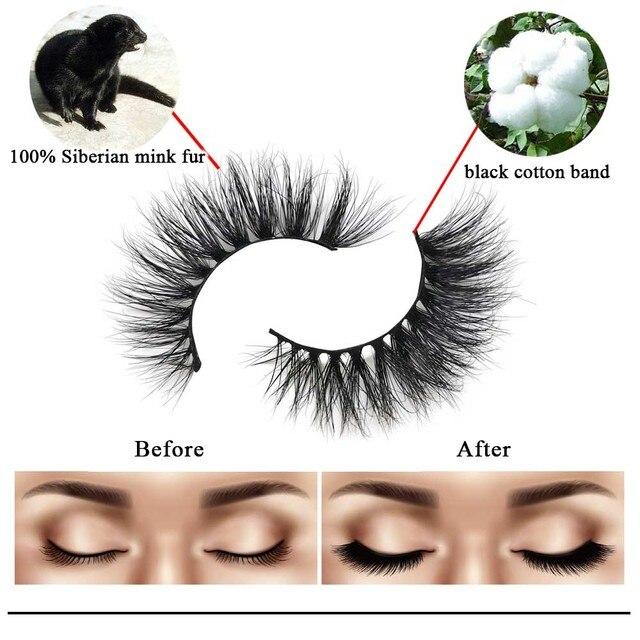 Friholl.m  wholesale 3d mink lashes 8-25mm siberian real mink strip eyelashes mink eyelashes  packaging box 4