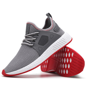 Image 5 - 2019 Fashion Men Shoes Casual Weaving Fly Mesh Breathable Light Soft Black Slipon Mens Shoe Male Trainers Sneakers Human Race