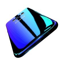 Get more info on the Aurora Blue Back Pink Ray Phone Case for iPhone 6 6S 7 8 plus x xr xs max Samsung Note 8 9 Galaxy S7 edge S8 S9 TPU Back Case