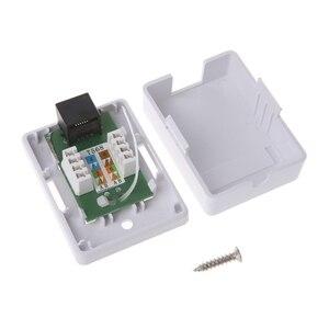 Image 1 - Caja de montaje para escritorio, modelo Cat5e RJ45 8P8C HM HB01 UTP sin blindaje, puerto único, Q1JC