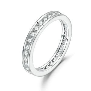 Image 1 - GEMS בלט 0.33Ct Luxe עתיק גלילה EF צבע Moissanite טבעת 925 סטרלינג כסף נישואים לתכשיטי נשים 2mm