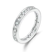 Pulseira de casamento de prata esterlina 925 para as mulheres jóias finas 2mm pulseira de casamento de prata esterlina do ef da cor do rolo antigo de balé 0.33ct luxe