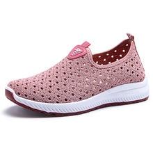 Sapatos esportivos femininos de verão, tênis da moda, vazados, respiráveis, caminhadas de lazer, macias e confortáveis