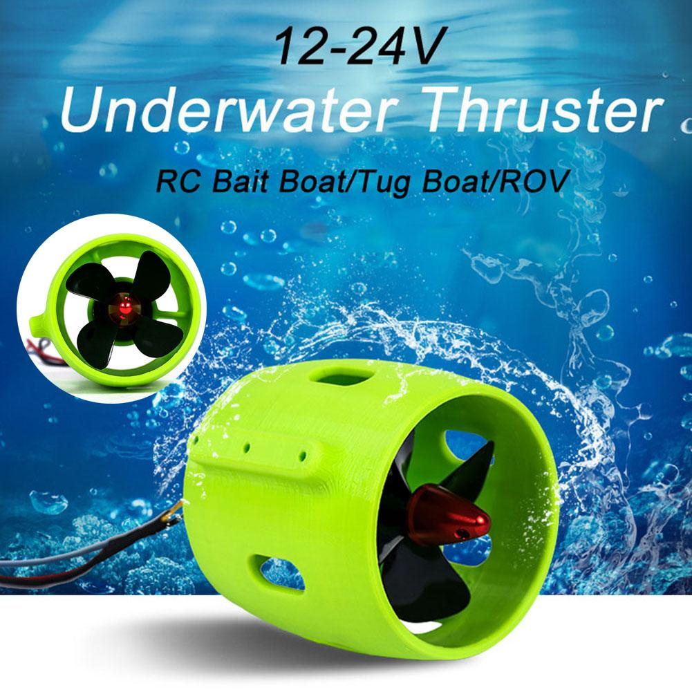 12-24V 20A Brushless Motor 4 Blade Underwater Thruster RC Bait Boat Accessory Plastic RC Boat Accessories High Performance