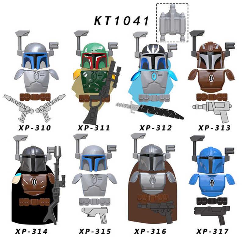 8 шт./лот, набор Звездных войн, мандалорский боевой рисунок, броня, Boba Jango, Vizsla, Darksaber, Вейдер, строительные блоки, кирпичная игрушка для детей