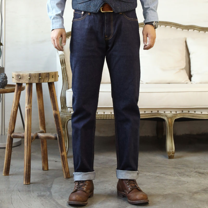 D10-0002 Read Description! Low Rise Raw Indigo Selvage Washed 12oz Denim Pants Sanforised Zipper Raw Denim Jean