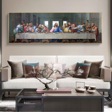 Last Supper by Leonardo da Vinci Canvas Paintings on the Wall Art Posters And Prints Classical Famous Art Pictures Home Decor недорого