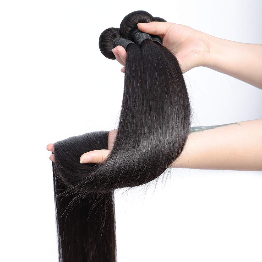 Straight Bundles Virgin Hair Bundles 40 Inch Long   Natural  Bundles  Bone Straight Hair 5