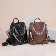 2020 Women Genuine Leather Backpacks Teenage Girls Female Designer School Shoulder Bag Bagpack Women's Laptop Bags mochila