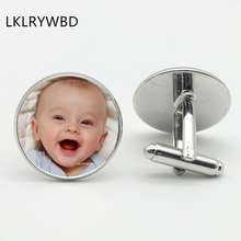 Photo Personality Family Portrait Twins Boys Girls Parents Brothers Sisters Grandmother Custom Cufflinks Jewelry