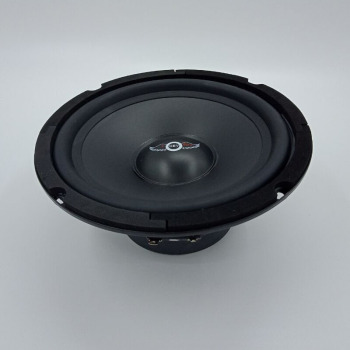 1pc 6 inch HiFi Car Mid range  200W 6 Ohm Black Rubber Edge PP Cone 6.5 inch  Universal KTV Speaker 1