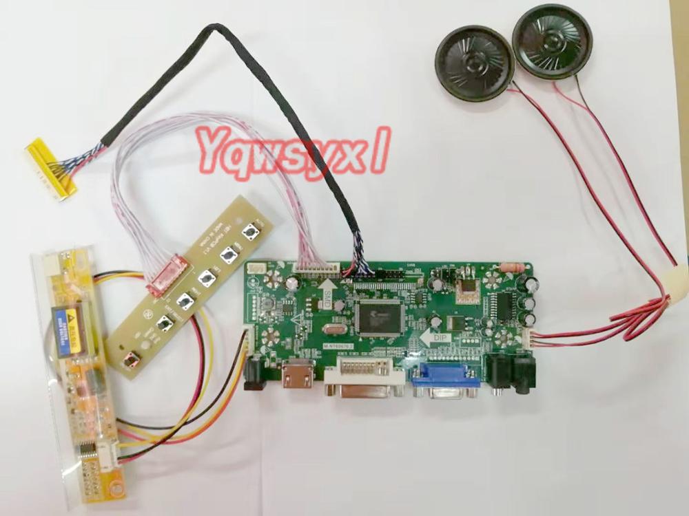 Yqwsyxl Control Board Monitor With Speaker Kit For QD15XL06HDMI + DVI + VGA LCD LED Screen Controller Board Driver