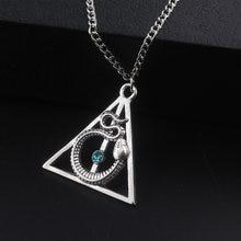 Змея «Слизерин» Ожерелья смертельный гвоздь треугольник гермион таймер Подвеска Ожерелье женское Кино ювелирные изделия