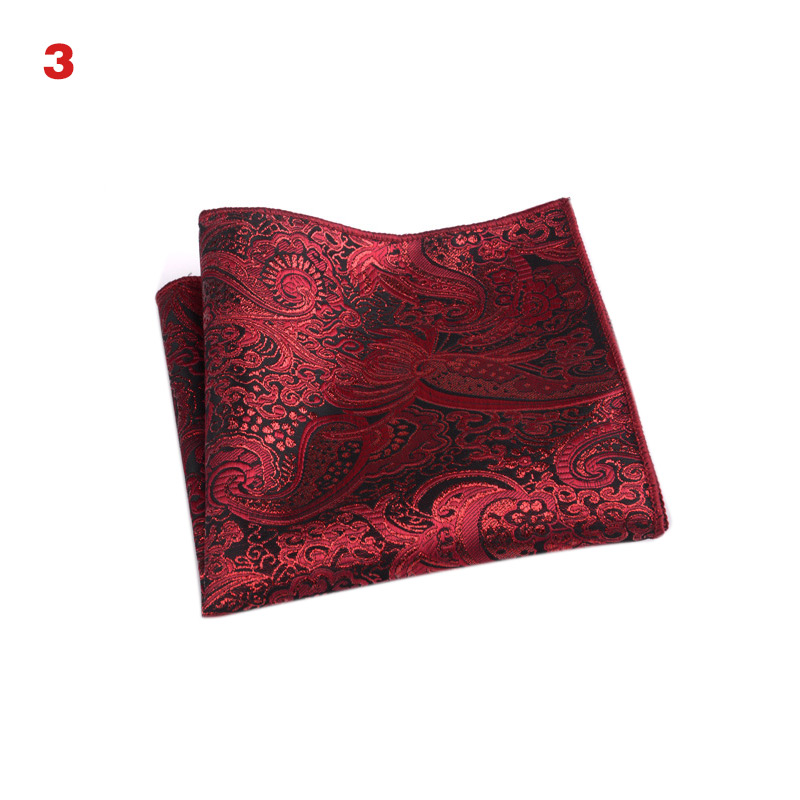 Men White Handkerchief Suit Pocket Towel Accessories Wedding Banquet Anniversary Commercial Black Red Blue