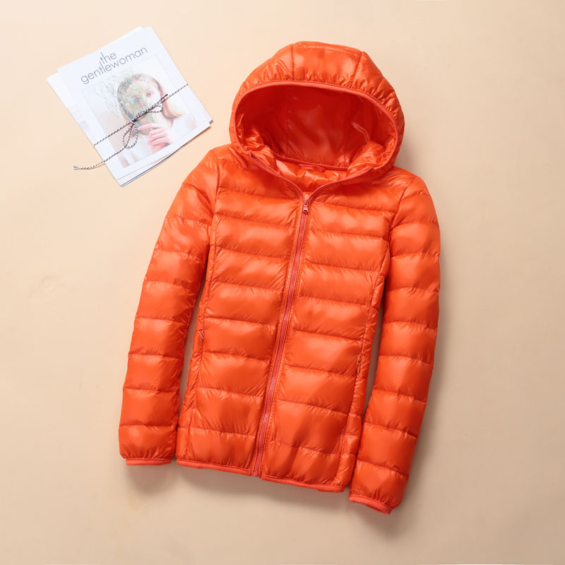Plus size middle aged and elderly light down jacket women's short hooded stand collar warm down jacket women's coat|Down Coats| - AliExpress